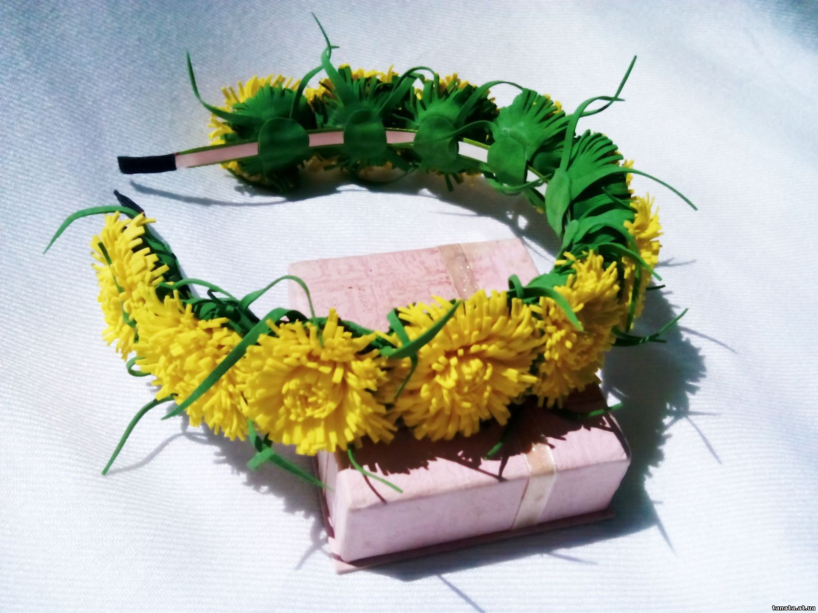 Цветы из фоамирана одуванчики мастер класс с пошаговым фото